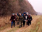 Пеший поход выходного дня по Подмосковью. Встреча туристов.
