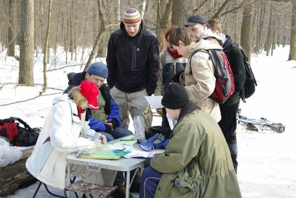 Старт соревнований по ориентированию в школе по горному туризму в Клубе АТО