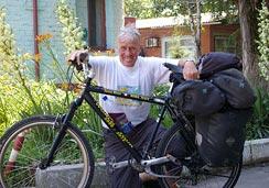 Итальянский велопутешественник Януш Ривер