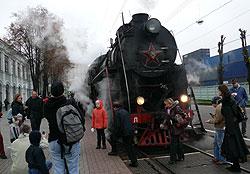 Ретро поезд отправляется с рижского вогзала Москвы по выходным и праздникам.