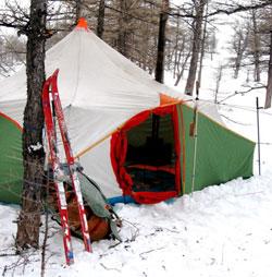Организация ночлега в лыжном походе