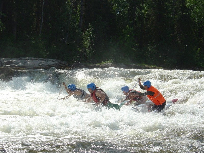 Сплав на катамаранах по рекам Карелии Тохмайоки
